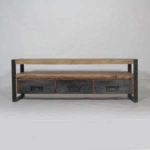 Meuble Tv Bois Metal 96 by Tvs Industriel And Tables On