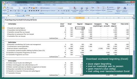 bedrijf aan huis voorbeelden voorbeeld projectbegroting gratis downloaden werken aan