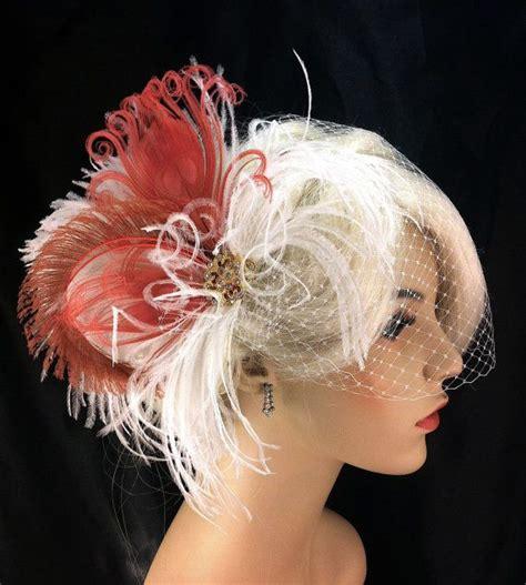 Feather Wedding Veil feather bridal fascinator feather fascinator bridal