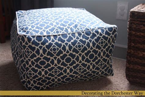 no sew pouf ottoman 32 fabulous diy poufs your living room needs right now