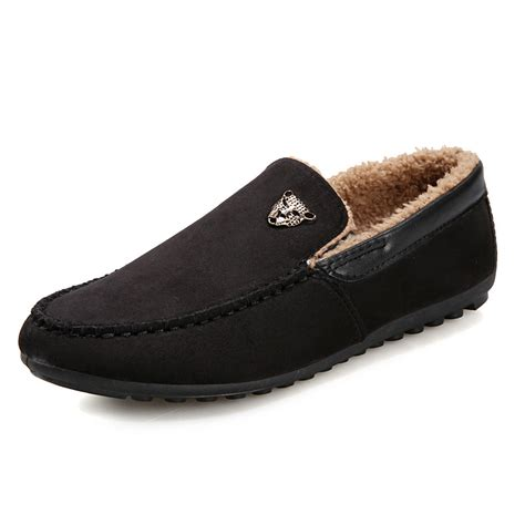 fu loafers 2015 new winter plush warm fur loafers shoes moccasin