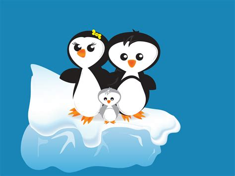 cartoon penguins backgrounds for presentation ppt