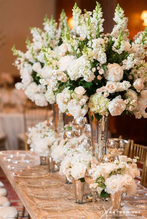 Large Flower Arrangements For Weddings by Large Floral Arrangements Of White Stock Peonies And