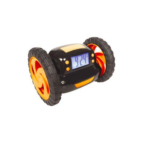 Alarm Wheels maplin digital lcd with blue led backlight running alarm clock with wheels new ebay