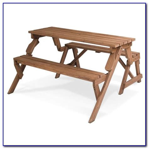picnic table converts to bench folding picnic table bench seat combination bench home