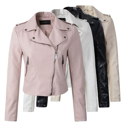 winter biker jacket brand motorcycle pu leather jacket women winter and autumn