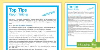 Report Writing Tips by Report Writing Top Tips Reports Report Writing Assessment