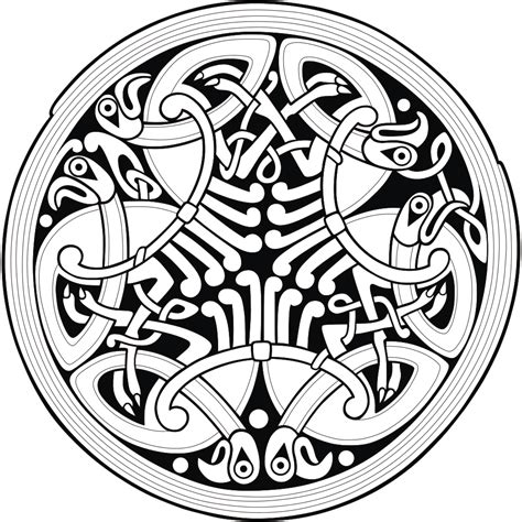 File Circle Celtic Ornament 2 Svg Wikimedia Commons Scottish Designs