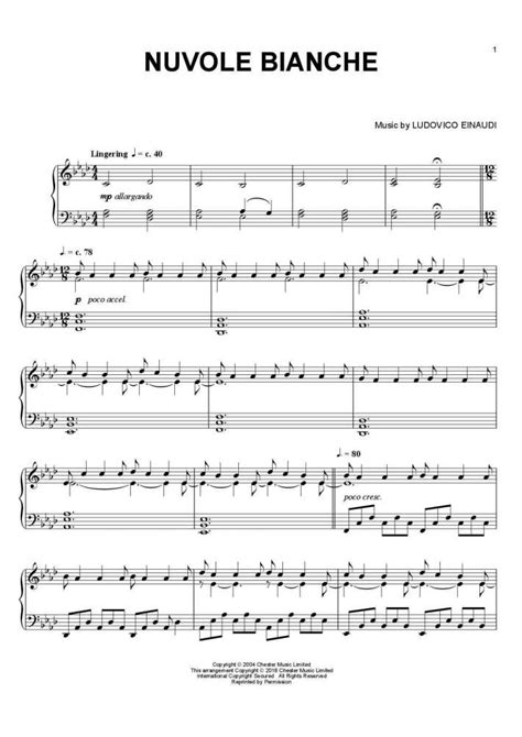 tutorial piano nuvole bianche nuvole bianche piano sheet music onlinepianist