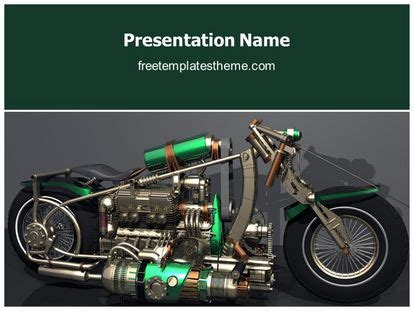 Free Concept Speed Motorcycle Powerpoint Template Motorcycle Ppt Templates Free