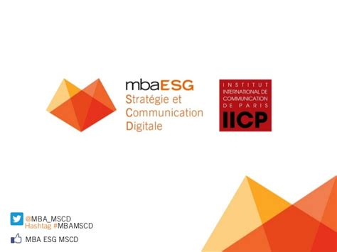Formation Mba by Formation Mba Esg Iicp Strat 233 Gie Et Communication