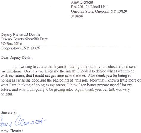 Enforcement Letter Of Appreciation Elect Rich Devlin Jr For Otsego County Sheriff 2006