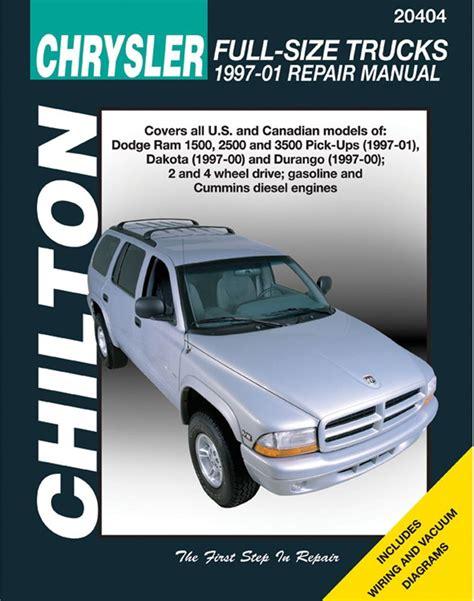 manual repair free 1997 dodge ram 2500 club free book repair manuals dodge ram 1500 2500 3500 dakota durango chilton repair manual 1997 2001 hay20404