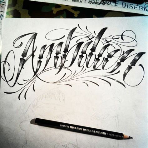 ambition tattoo ambition design top ambition lettering