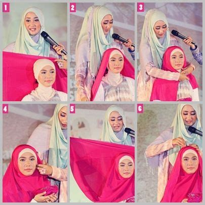 tutorial hijab party segi empat easy simple tutorial hijab segi empat by dian pelangi