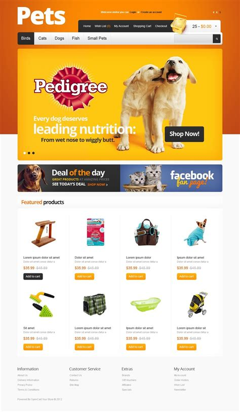 Pet Supplies Opencart Template Web Design Templates Website Templates Download Pet Supplies Free Pet Store Website Templates