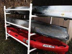 build a simple kayak rack from pvc kayak fishing instructor