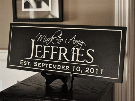 personalized family name sign plaque established 10x24