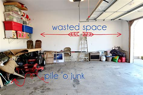 wasted space garage awesome garage organization systems ideas small