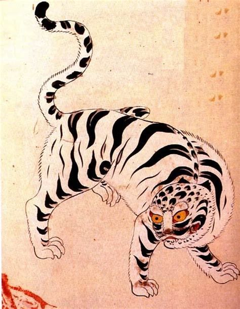 korean tiger tattoo the white tiger in korea is one of the guardian