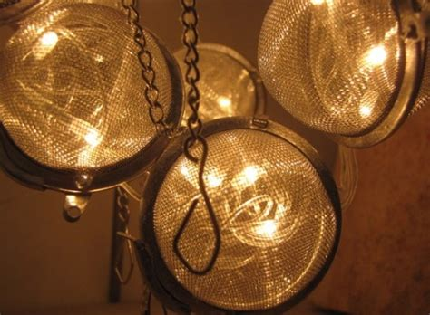 Recycled Lighting Fixtures Recycled Tea Strainer L Creates Soothing Glow Green Prophet