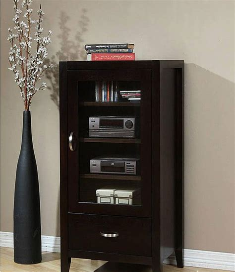 Furniture Fascinating Media Cabinet With Glass Doors For Media Storage Cabinet With Glass Doors