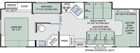 four winds rv floor plans 2016 four winds 31e bunkhouse class c motorhomes