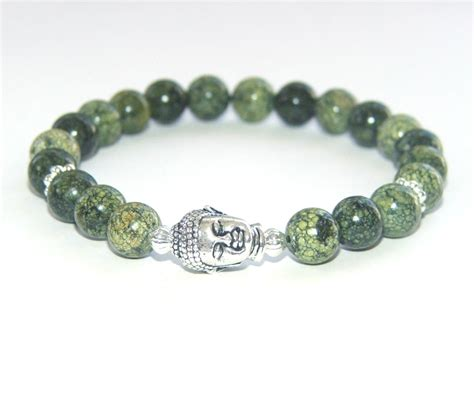 buddha bracelet russian serpentine silver buddha bracelet felt