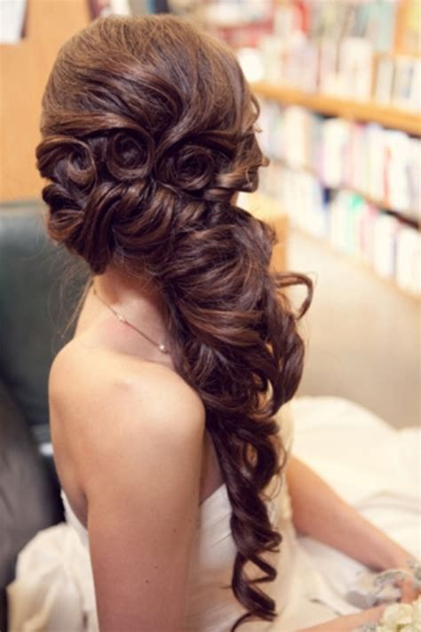 prom hairstyles for long hair down curly pinterest 59069698 wedding hair prom hair half up half down side swept