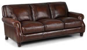 Traditional Leather Sofas Simon Li Brown Leather Sofa Traditional Sofas