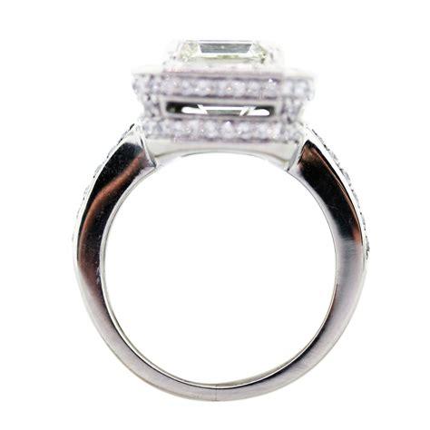 4 carat emerald cut platinum engagement ring in