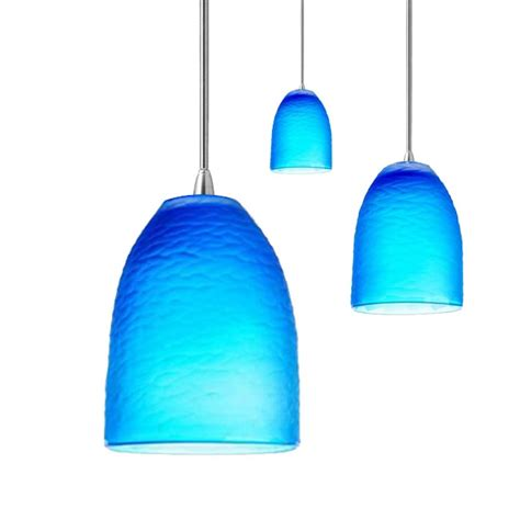 Blue Light Fixtures Blue Pendant Light Modern Mini Pendant Light With Blue Glass 10143 1pb Destination Lighting