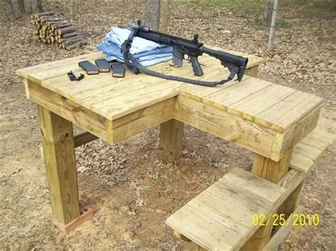 build shooting bench shooting bench plans google search guns shooting