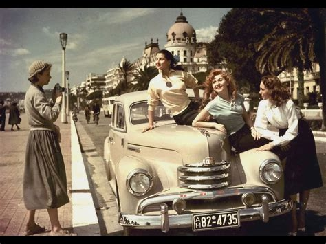 retro photos opel period photos of summer 1951 1953 opel kapitan 4
