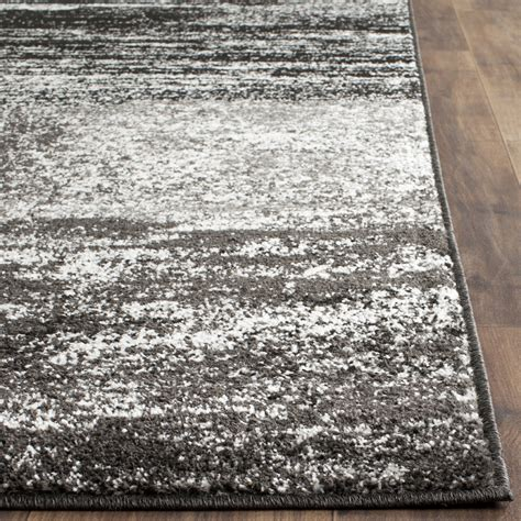 Safavieh Adirondack Black Silver White Area Rug Reviews White Area Rugs