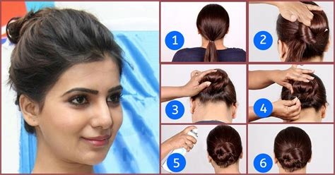 Hairstyles Buns Step By Step by Easy Hairstyles For Saree Step By Hairstyles