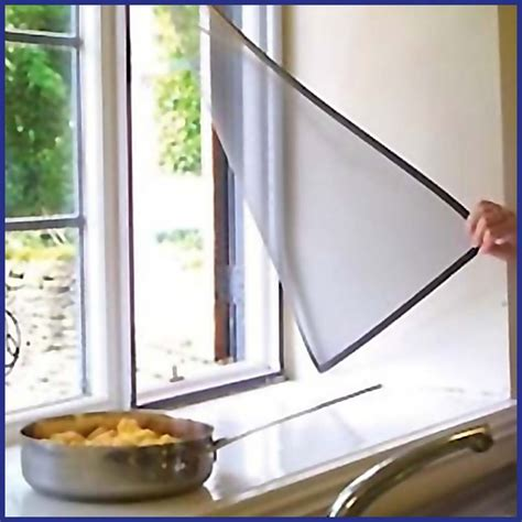 Magnetic Insect Screen Minimalis magnetic mosquito window screens simply stick to your window thanks to the excellent holding