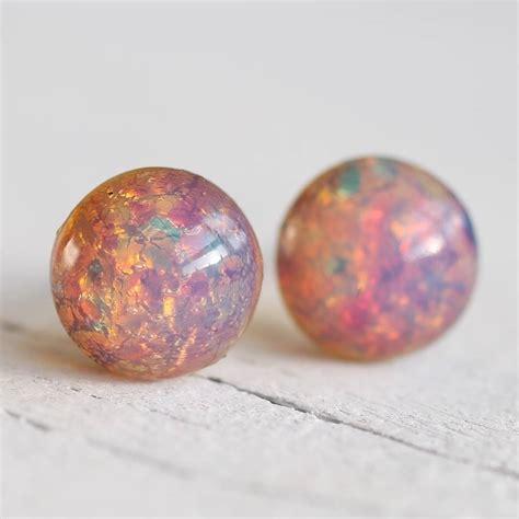 Opal Kode 137 pink opal stud earrings by silk purse sow s ear