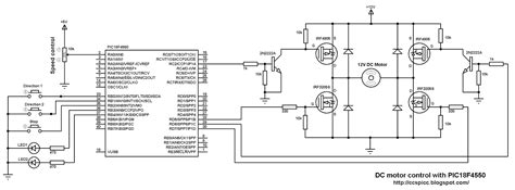 speed of dc motor using igbt dc motor speed and direction with pic18f4550