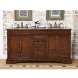 60 inch furniture style sink vanity with travertine