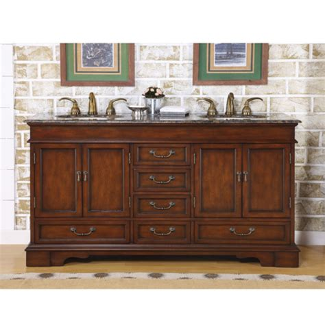 Bathroom Furniture Vanity Cabinets 60 Inch Furniture Style Sink Vanity With Travertine Top Uvsr071560