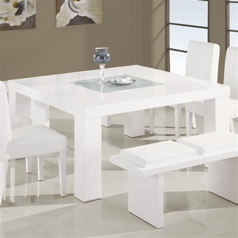 global dg020dt square dining table in white beyond stores