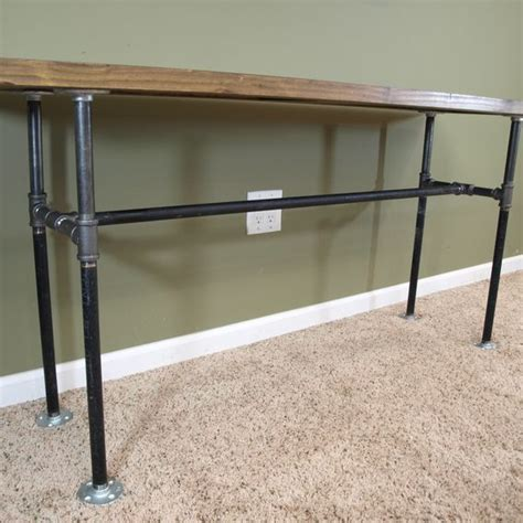 black pipe sofa table crafted custom sofa table from reclaimed door and