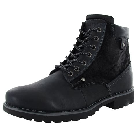 Steve Madden Boots by Steve Madden Mens Cannter Lace Up Winter Boot Shoe Ebay