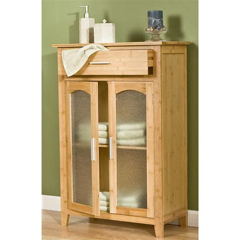 southern enterprises inc bamboo storage cabinet 145303