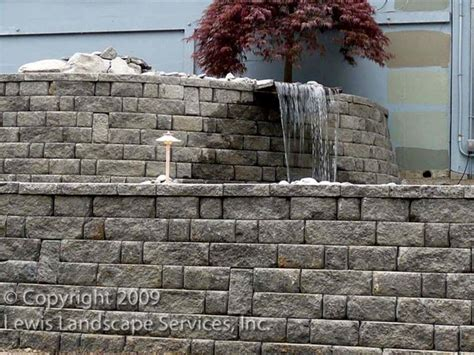 retaining wall blocks home depot on backyard