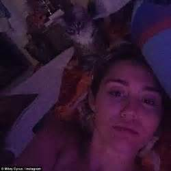 selfies in bed miley cyrus shares intimate selfies while bedridden due to