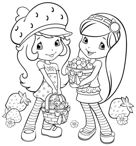 strawberry shortcake coloring page free printable coloring pages strawberry shortcake friends