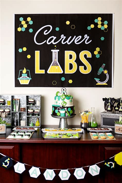 science themed decorations science laboratory backdrop by modern moments designs