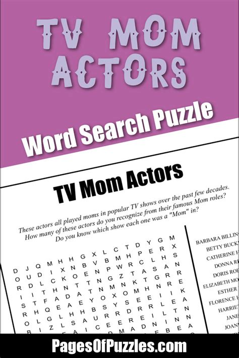How Many Search Past The Page On Tv Actors Word Search Pages Of Puzzles